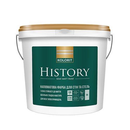 Kolorit History - латексная краска на акрилатной основе для внутренних работ.