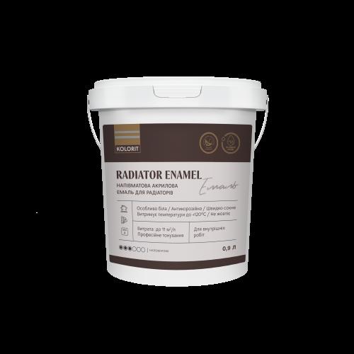 Kolorit Radiator Enamel - полуматовая акриловая эмаль для радиаторов.
