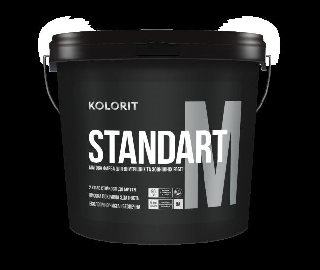 Kolorit STANDART M - латексная краска для внутренних и наружных работ на акрилатной основе